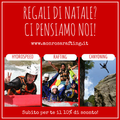 voucher rafting per natale sconto