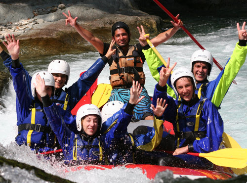 studenti in rafting